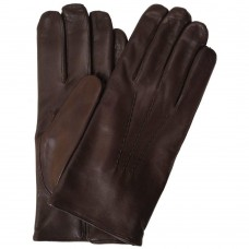 Men's Cashmere Lined Brown Leather Napoli Gloves
