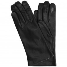 Women's Cashmere Lined Black Leather Gloves