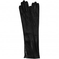 Women's Cashmere Lined Black Long Leather Opera Gloves