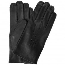 Men's Cashmere Lined Black Leather Napoli Gloves