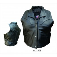 Ladies Vest With Collar