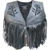 Ladies Black Rose Vest