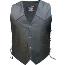 Texas Strong !! Men's Basic Vest With Side Laces and Texas Flag