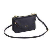 Modern Leather Convertible Clutch Crossbody