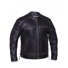 Mens Vintage Brown Scooter Jacket (6616.vt)