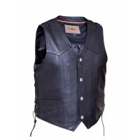 Men's Traditional Naked Snap Front Vest (0330)
