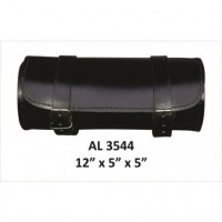 Plain Round Leather Tool Bag