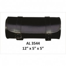 Plain Round Leather Tool Bag