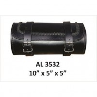 Braided Round Leather Tool Bag-1