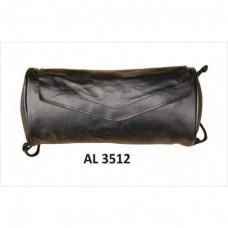 Soft Leather Plain Tool Bag Velcro Closure.