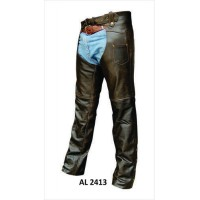 Retro Brown Chaps Buffalo Leather