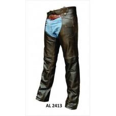 Retro Brown Chaps Buffalo Leather