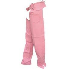 Ladies Pink Plain Lined Hip Hugger Chaps
