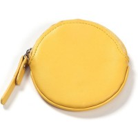 Leather Round Coin Purse/Keychain