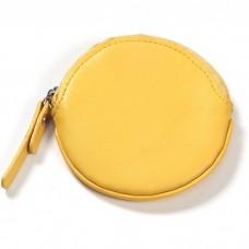 Leather Round Coin Purse/Keychain